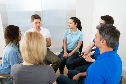 group therapy - intensive outpatient program - aviary recovery center - st. louis intensive outpatient treatment - missiouri iop - drug and alcohol rehab