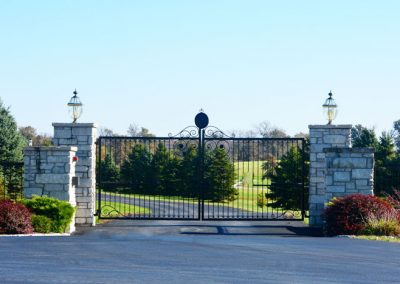 gated entrance to The Aviary Recovery Center