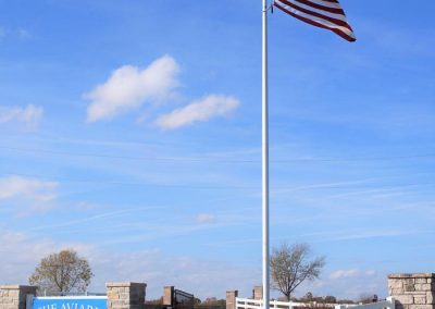 The Aviary Recovery Center - flag at main entrance